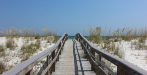 10th Ave. boardwalk on Pensacola Beach, Florida