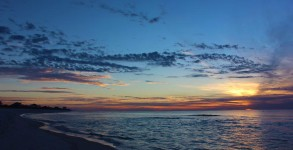 December 23, 2012 Sunrise over Pensacola Beach 18th Ave.