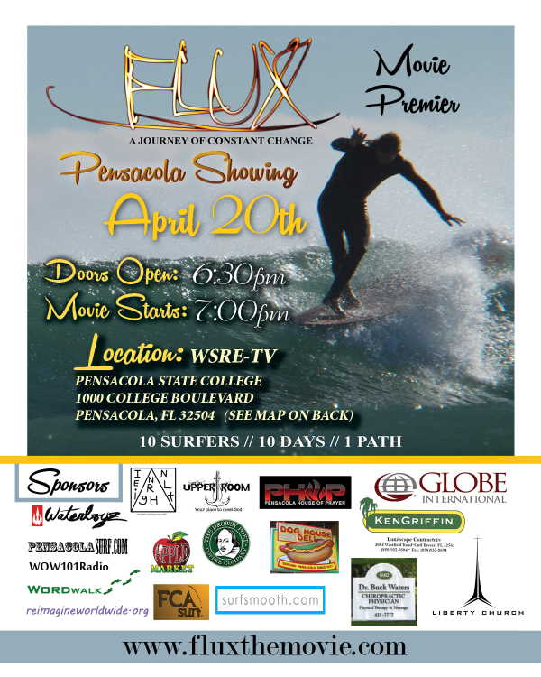 Don't FORGET April 20th…. FLUX surf movie premiere