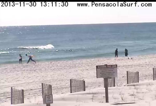 Saturday Midday Beach and Surf Report 11/30/13 1:14 pm