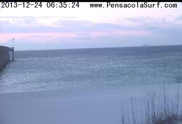 Tuesday Sunrise Beach and Surf Report 12/24/13