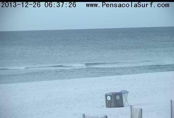 Thursday Sunrise Beach and Surf Report 12/26/13