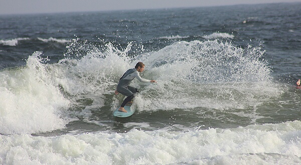 Monday Evening Surfing Pictures on Pensacola Beach 04/28/14