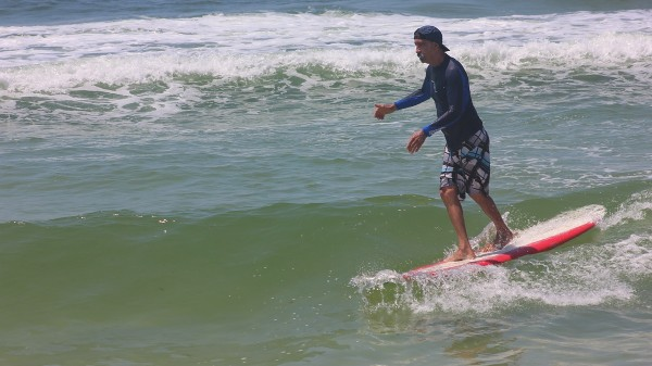 Thursday Midday Surfing Pictures on Pensacola Beach 06/12/14