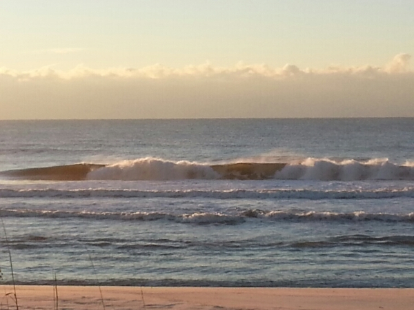 Christmas Morning Beach and Surf Report 12/25/14