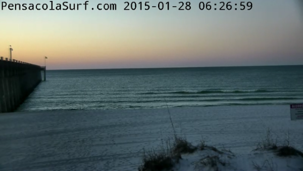 Wednesday  Sunrise Beach and Surf Report 01/28/15