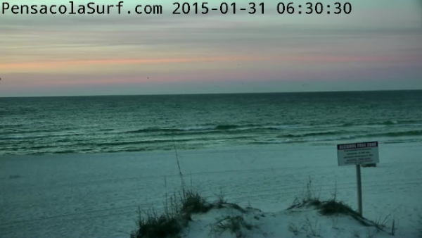 Saturday Sunrise Beach and Surf Report 01/31/15