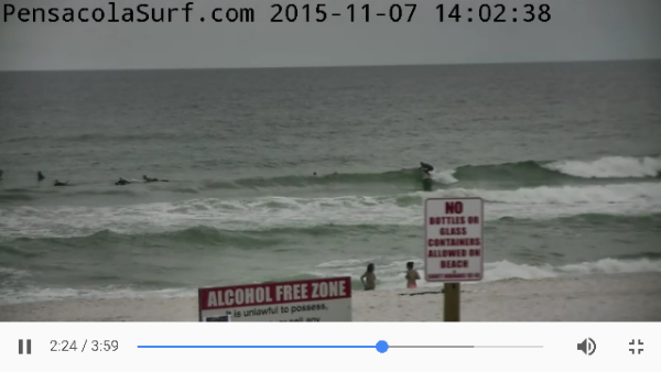Saturday Afternoon Beach and Surf Report 11/07/15