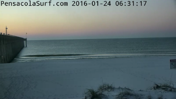 Sunday Sunrise Beach and Surf Report 01/24/2016