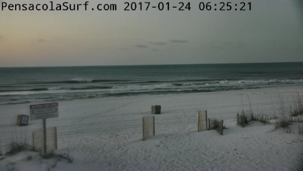 Tuesday Sunrise Beach and Surf Report 01/24/17