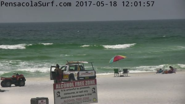 Thursday High Noon Beach and Surf Report
