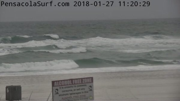 Saturday Noon Beach and Surf Report 1/28/18