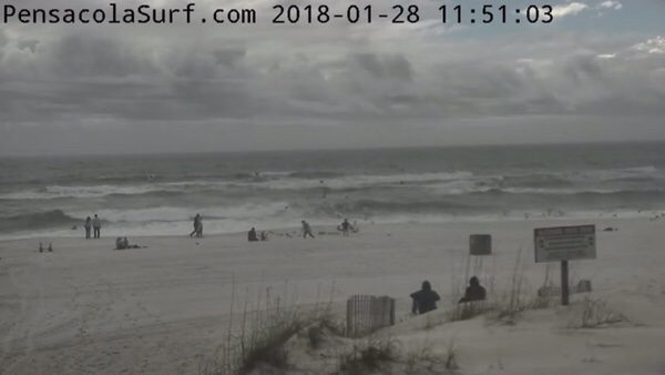 Sunday Noon Beach and Surf Report 1/28/18