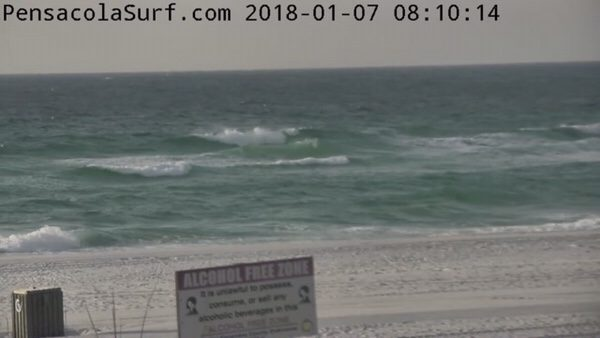 Sunday Mid-Morning Beach and Surf Update 1/7/18