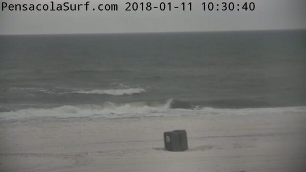 Thursday Mid-Day Beach and Surf Report 1/11/18