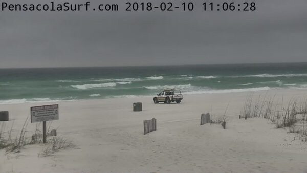 Saturday Mid-Day Beach and Surf Report 2/10/18
