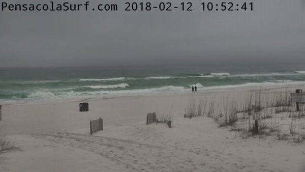 Monday Mid-Day Beach and Surf Report 2/12/18