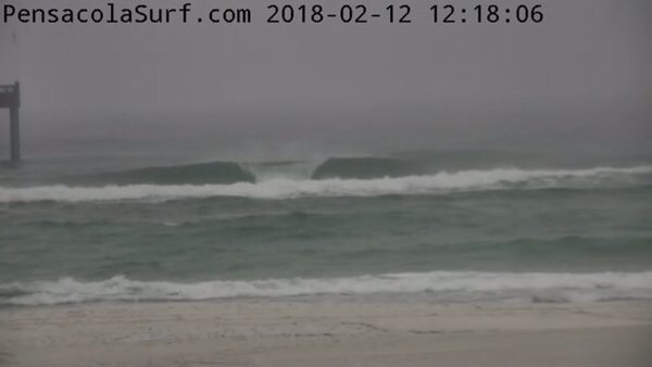 Monday afternoon beach and surf report 2/12/18