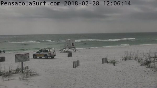 Wednesday Noon Beach and Surf Report 2/28/18