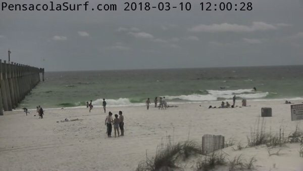 Saturday Noon Beach and Surf Report 3/10/18