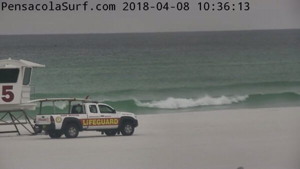 Sunday Mid-Day Beach and Surf Report 4/8/18